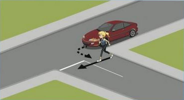 Pedestrian graphic